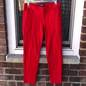 ♥️ Red Old Navy Pixie Work pants♥️